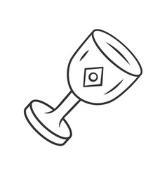 Chalice cup linear icon thin line medieval vector