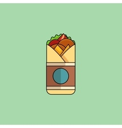 Chicken Roll in minimalist style vector image