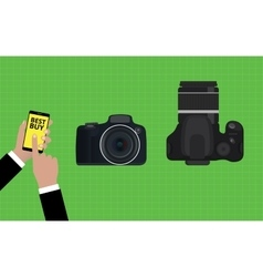 Choose and buy the best camera slr vector
