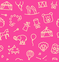 circus seamless background in linear style vector image