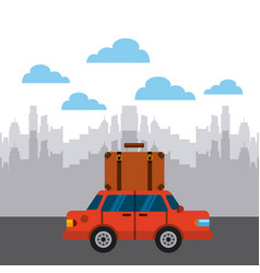 Cities and travel design vector