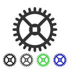 clock gear flat icon vector image