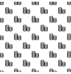 coin stack pattern seamless vector image