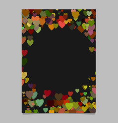 Color abstract random heart brochure template vector