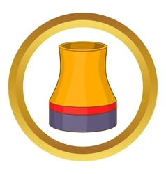 Cooling tower icon vector