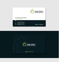 dark business card for a cheap hotel vector image