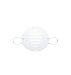 Disposable dust particulate respirator realistic vector