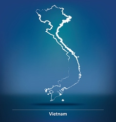 Doodle Map of Vietnam vector