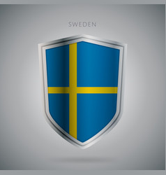 europe flags series sweden modern icon vector image
