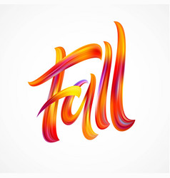fall modern colorful flow lettering vector image