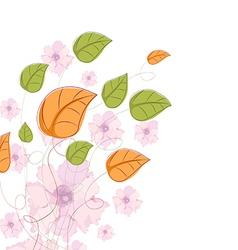 Floral vintage background Watercolor flowers vector image