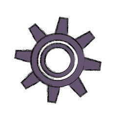 Gear machinery isolated vector