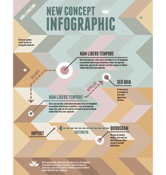 Geometric Background and New Concept Infographic vector image