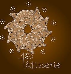 Gingerbread lambs vector image
