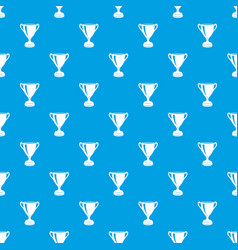 goblet pattern seamless blue vector image