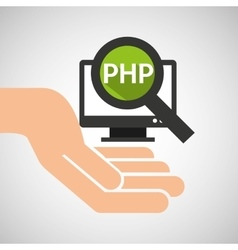 Hand optimization technology php computer vector
