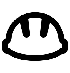 Hardhat Stroke Icon vector
