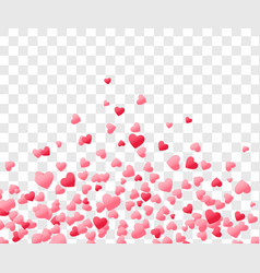 heart confetti valentines day background vector image