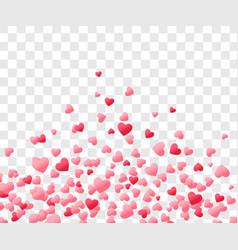 Heart confetti valentines day background vector