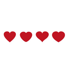 heart icons love symbol valentine s day vector image