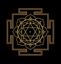 hinduism yantra sacred geometry mandala vector image