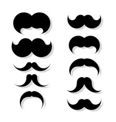 hipster image with mustache collection of vector image