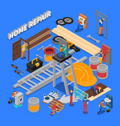 home repair composition vector image