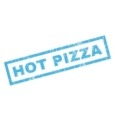 Hot Pizza Rubber Stamp vector