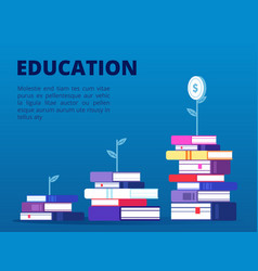investment in self education concept banner vector image