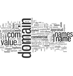 Is your domain name worth a fortune vector