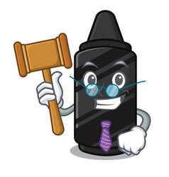 Judge black crayon isolated in cartoon vector