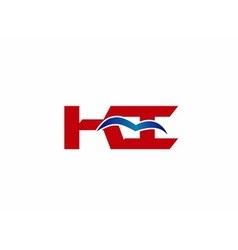 KI company linked letter logo vector image