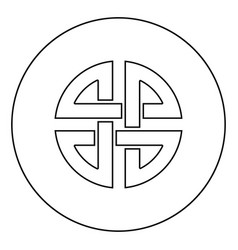 Knot shield symbol protection ancient symbol vector