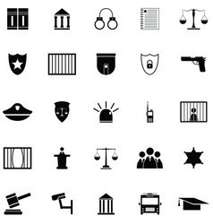 law icon set vector image