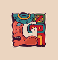 Letter g logo in aztec mayan or incas style vector