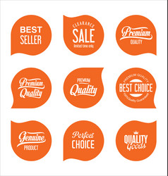 Modern sale badges collection 5 vector