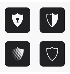 modern shield icons set vector image