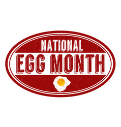 national egg month grunge rubber stamp vector image