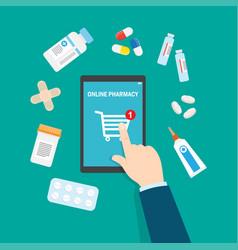 Online pharmacy concept flat vector