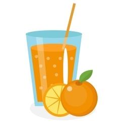 Orange juice orangeade in a glass Fresh vector