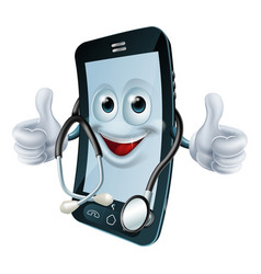 phone man with a stethoscope vector image