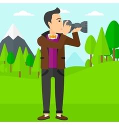 Photographer taking photo vector