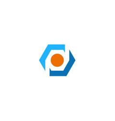 polygone spot geometry technology logo vector image