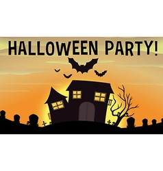 Poster of halloween party vector