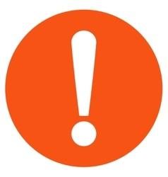 Problem flat orange color icon vector