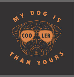 pug dog cool vector image