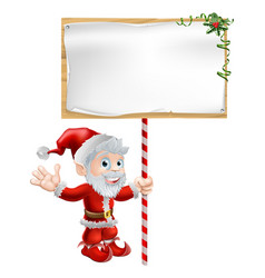 Santa christmas sign vector
