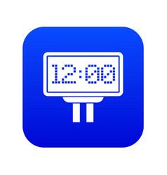 Scoreboard icon digital blue vector