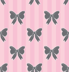 Seamless Bow Pattern 2 vector image