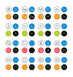 Set design icon web vector